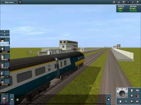 (Trainz Simulator 12) DF11 city town to desert moscow VS HST125