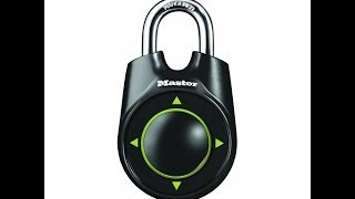 Master Lock 1500ID Speed Dial, How to Reset Combination