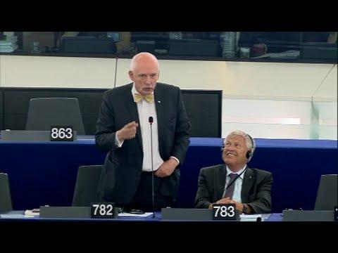 "[ENG] Janusz Korwin-Mikke: ""African cesspool flooded Europe"""