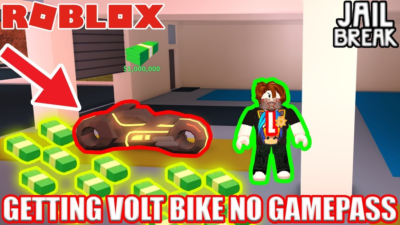 Getting Volt Bike Without Gamepasses Roblox Jailbreak