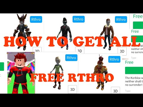 NEW EVENT)HOW TO GET ALL FREE RTHRO | ROBLOX