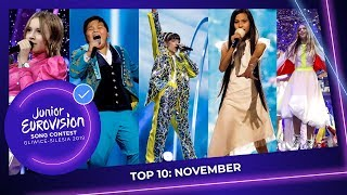 TOP 10: Most watched in November - Junior Eurovision Song Contest
