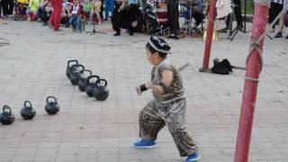 Дилмурад, Улугбек, Хожакбар  разминка с гирями