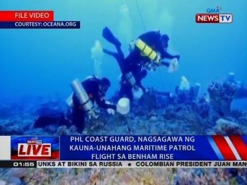 NTVL: Phl Coast Guard, nagsagawa ng kauna-unahang maritime patrol flight sa Benham Rise
