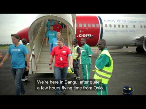 The most important flight of the year: Bangui
