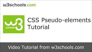 w3schools css pseudo elements tutorial