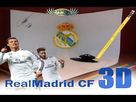 Real Madrid C.F Logo en 3D (Speed Drawing)