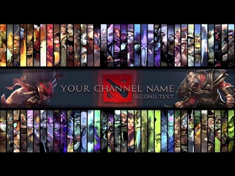 Free [DOTA 2] - Youtube Gaming Channel Art Template|PSD File|[FREE ...
