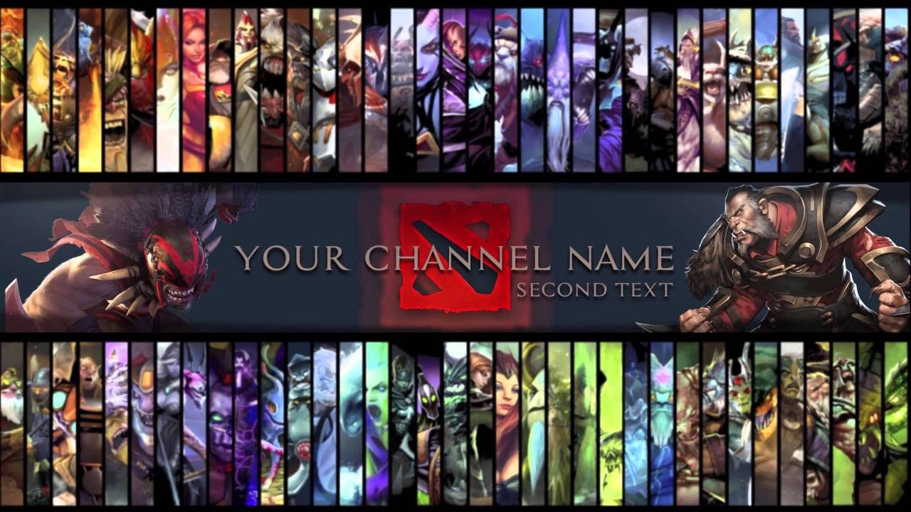 Free dota 2 youtube gaming channel art templatepsd filefree free dota 2 youtube gaming channel art templatepsd filefree download youtube pronofoot35fo Images