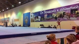 Катя на Первенстве России по спортивной гимнастике в Пензе. Обязательная программа. Вольные