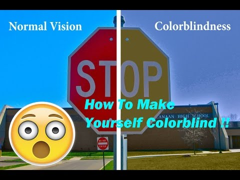 How To Make Yourself Temporarily Color Blind Youtube