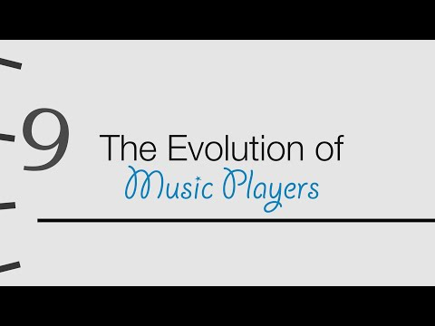 THE EVOLUTION OF MUSIC PLAYERS