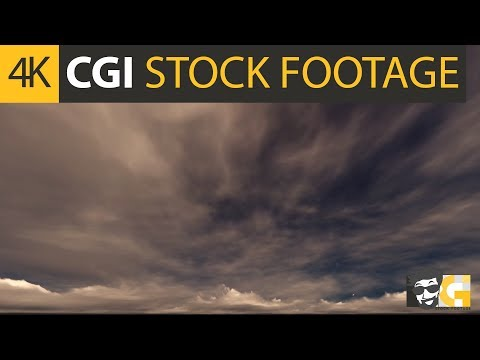 ( CGI 4k Stock Footage ) Apocalyptic sky