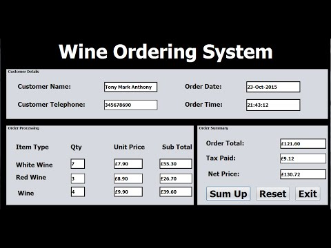 How To Create Ordering Systems In Java Netbeans Tutorial