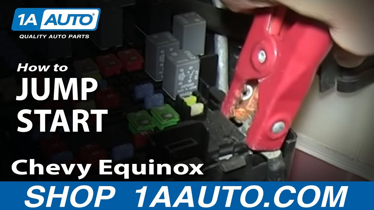 maxresdefault how to jump start pontiac torrent chevy equinox remote battery 2005 Fuse Box Kit at crackthecode.co