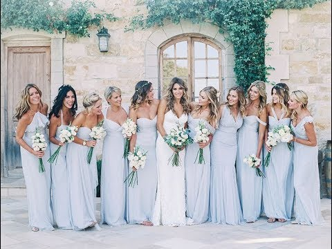 Ice Blue And Silver Bridesmaid Dresses Idea