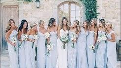 Ice Blue and Silver Bridesmaid Dresses Idea