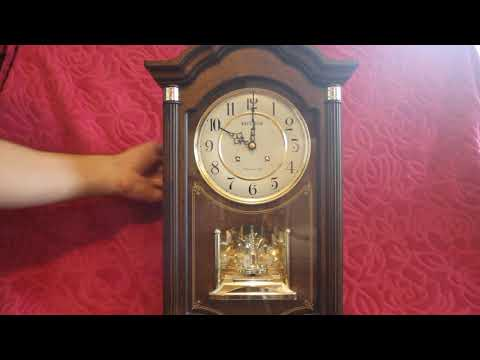 vintage quartz wall clock with westminster ave maria chimes