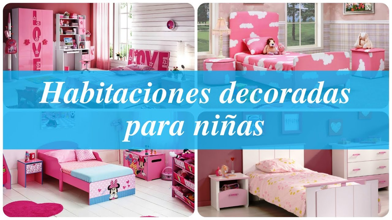 Habitaciones decoradas para ni as youtube for Placas decoradas para pared