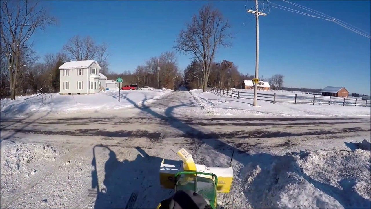 John Deere 1025r Quick Hitch Snowblower Drive Through The Country Part 1 Of  3, Gopro Hero 4  Tonycamp Camppartyof4