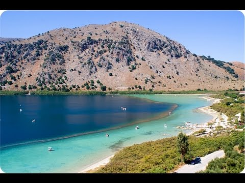 Beautiful places and attractions on the island of Crete (Greece). Travel