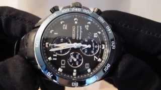 Обзор мужских наручных часов Seiko Sportura Chronograph SNAF37