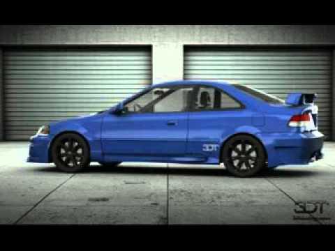 2000 Honda Civic Coupe Engine Sound   YouTube
