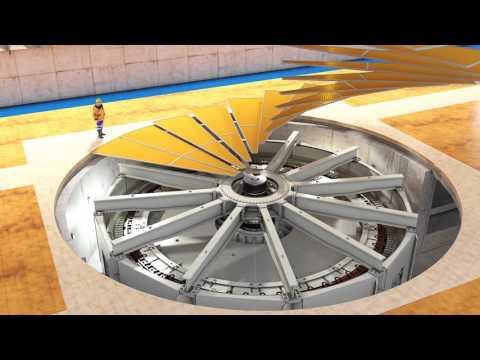 Video cómo opera una turbina hidroeléctrica
