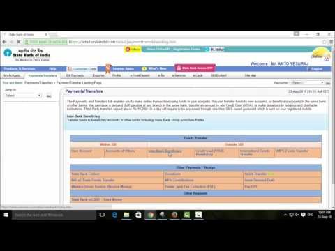 How to Transfer Money in Internet Banking Service for SBI, SBT, SBM, SBP Banks - Tamil TechGuruJi