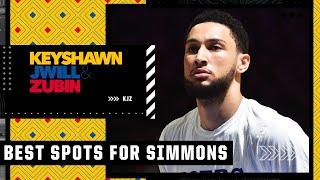 Jay Williams' TOP 5️⃣ landing spots for Ben Simmons   KJZ