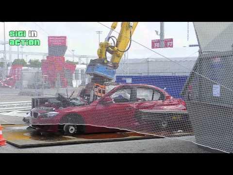 IFAT Preview: AUTORECYCLING Zerlegung eines BMW am 30.04.2014