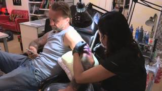Bangkok Tattoo Studio. Byron from Only God Forgives. Chopsticks & Tattoos.