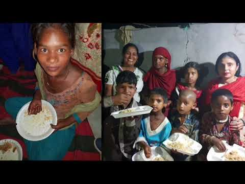 Alimentando as crianças na Índia