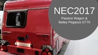 NEC2017 - Vango Challenge, Passion Wagon, Lego Caravan, and Bailey Pegasus GT70