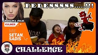 Mie Setan Challenge Indonesia ★ Bibir Sexy Angelina Jolie With Bimz Project