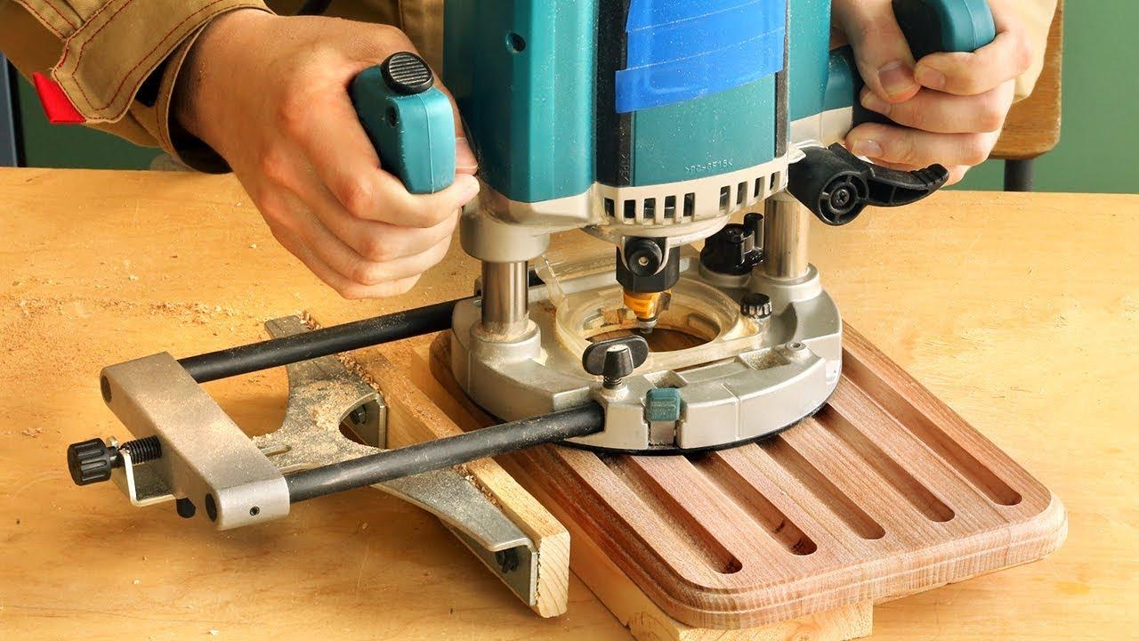 Фрезерование разделочной доски с продольными пазами, milling grooves in a cutting board