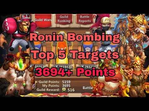 Guild Wars |19,August,18|P2P Account| Ronin Bombing Strategy| Castle Clash..