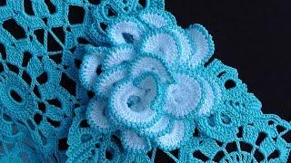 Как связать РОЗОЧКУ брошку. Вяжем розу крючком. How to crochet a rose motif.  Crochet Rose Brooch(Урок вязания крючком пышной, объемной и очень красивой РОЗЫ для украшения блузки. Вязаная брошка.Вязаную..., 2015-07-07T20:10:10.000Z)