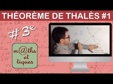 Appliquer le théorème de Thalès (1) - Troisième