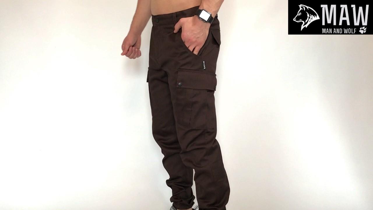 9561420593ae Штаны cargo MAN AND WOLF Cargo pants cotton коричневые