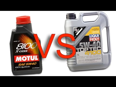 motul 8100 x cess 5w40 vs liqui moly top tec 4100 5w40. Black Bedroom Furniture Sets. Home Design Ideas
