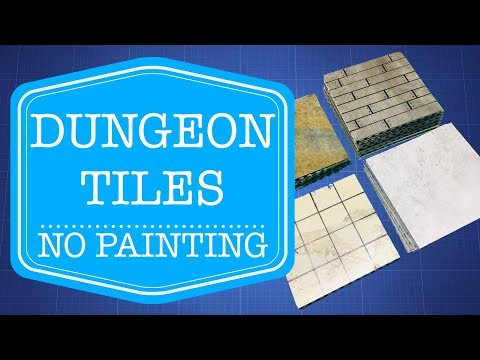 Episode 086 -- Inexpensive, No-Painting-Required Dungeon Tiles