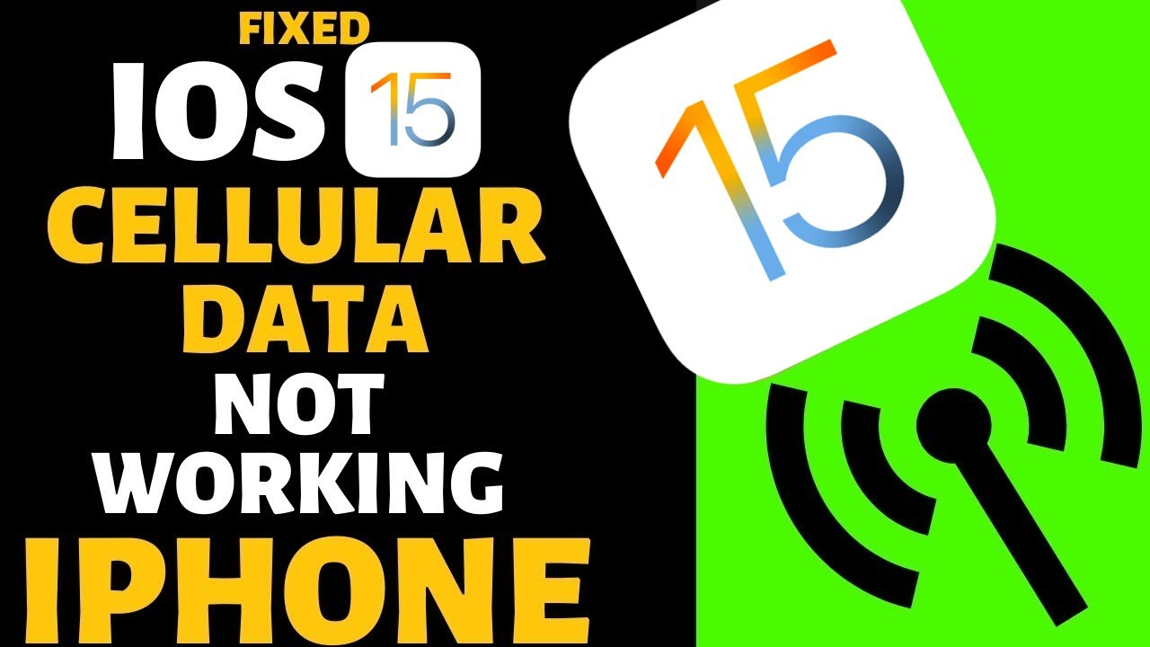 Could Not Activate Cellular Data Network after iOS 13 Update on iPhone