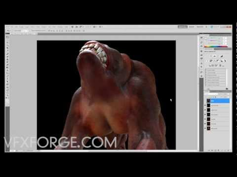 Compositing 32bit OpenEXR images in Photoshop - Linear Workflow Demo