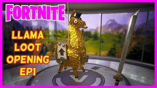 Fortnite - Llama Pack Opening Ep1 - Smashing Llamas