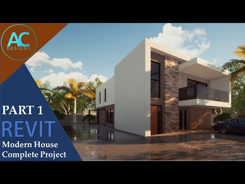 Modern House   Part 1   Complete Step by Step Project   Revit Tutorial