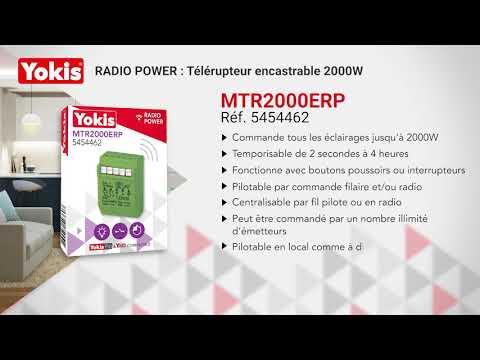 Quatre   Télérupteurs 10a silencieux radio MTR2000ERP Yokis 5454462
