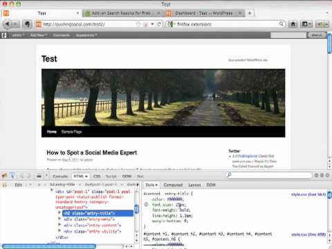 How to modify your wordpress template youtube how to modify your wordpress template pronofoot35fo Image collections
