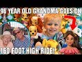96 Year Old Grandma Reacts to Going to Disneyland