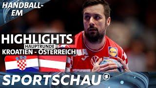 Spielbericht: Kroatien hat wacker kämpfende Österreicher im Griff | Handball-EM | Sportschau